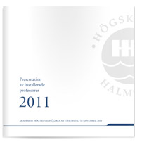 Broschyr om installerade professorer 2011
