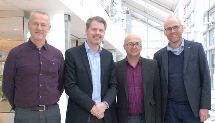 Management team – Antanas Verikas, Magnus Clarin, Josef Bigun and Thorsteinn Rögnvaldsson