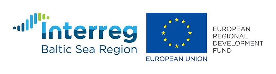 Logotyp Interreg och EU. Illustration.