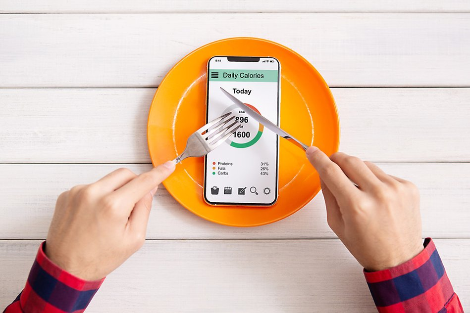 plate with phone on it